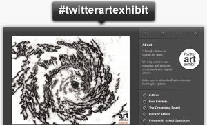 Capture of twitrartexhibit website