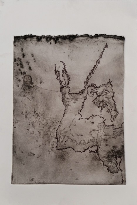 Untitled, 2015 Steel Etching & Ink Collection of the Artist